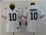 Chicago Bears #10 Mitchell Trubisky Women's 2019 Alternate White 100th Season Classic Limited Jersey