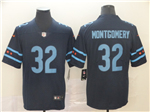 Chicago Bears #32 David Montgomery Navy City Edition Limited Jersey