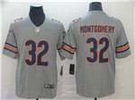 Chicago Bears #32 David Montgomery Gray Inverted Limited Jersey