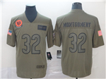 Chicago Bears #32 David Montgomery 2019 Olive Salute To Service Limited Jersey