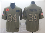 Chicago Bears #34 Walter Payton 2019 Olive Camo Salute To Service Limited Jersey