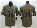 Chicago Bears #34 Walter Payton 2017 Olive Salute To Service Limited Jersey