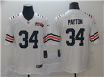 Chicago Bears #34 Walter Payton 2019 Alternate White 100th Season Classic Limited Jersey