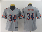 Chicago Bears #34 Walter Payton Women's Gray Inverted Limited Jersey