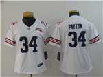 Chicago Bears #34 Walter Payton Women's 2019 Alternate White 100th Season Classic Limited Jersey