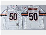Chicago Bears #50 Mike Singletary Throwback White Jersey