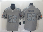 Chicago Bears #52 Khalil Mack 2019 Gray Gridiron Gray Limited Jersey