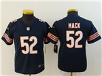 Chicago Bears #52 Khalil Mack Youth Blue Vapor Limited Jersey