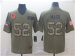 Chicago Bears #52 Khalil Mack 2019 Olive Camo Salute To Service Limited Jersey