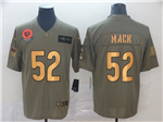 Chicago Bears #52 Khalil Mack 2019 Olive Gold Salute To Service Limited Jersey