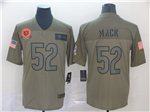 Chicago Bears #52 Khalil Mack 2019 Olive Salute To Service Limited Jersey