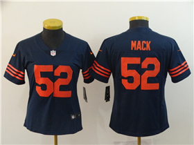 Chicago Bears #52 Khalil Mack Women's Alternate Blue Vapor Untouchable Limited Jersey