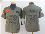 Chicago Bears #52 Khalil Mack Youth 2019 Olive Salute To Service Limited Jersey