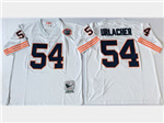 Chicago Bears #54 Brian Urlacher Throwback White Jersey with Bear Patch