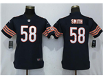 Chicago Bears #58 Roquan Smith Women's Blue Vapor Untouchable Limited Jersey