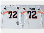 Chicago Bears #72 William Perry Throwback White Jersey with Bear Patch