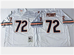Chicago Bears #72 William Perry Throwback White Jersey
