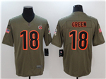 Cincinnati Bengals #18 A.J. Green 2017 Olive Salute To Service Limited Jersey