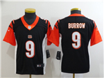 Cincinnati Bengals #9 Joe Burrow Youth Black Vapor Untouchable Limited Jersey