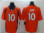 Denver Broncos #10 Emmanuel Sanders Orange Vapor Untouchable Limited Jersey