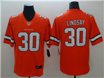 Denver Broncos #30 Phillip Lindsay Orange Color Rush Limited Jersey