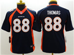 Denver Broncos #88 Demaryius Thomas Youth Blue Jersey