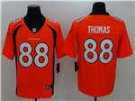 Denver Broncos #88 Demaryius Thomas Orange Vapor Untouchable Limited Jersey