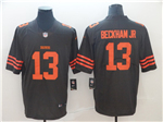 Cleveland Browns #13 Odell Beckham Jr. Brown Vapor Untouchable Color Rush Limited Jersey