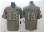 Cleveland Browns #13 Odell Beckham Jr. 2019 Olive Camo Salute To Service Limited Jersey