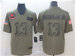 Cleveland Browns #13 Odell Beckham Jr. 2019 Olive Salute To Service Limited Jersey