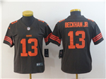 Cleveland Browns #13 Odell Beckham Jr. Brown Women's Color Rush Limited Jersey