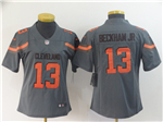 Cleveland Browns #13 Odell Beckham Jr. Women's Gray Inverted Limited Jersey