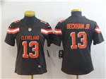 Cleveland Browns #13 Odell Beckham Jr. Women's Brown Vapor Untouchable Limited Jersey