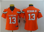 Cleveland Browns #13 Odell Beckham Jr. Women's Orange Vapor Untouchable Limited Jersey