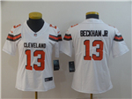 Cleveland Browns #13 Odell Beckham Jr. Women's White Vapor Untouchable Limited Jersey