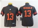 Cleveland Browns #13 Odell Beckham Jr. Brown Youth Color Rush Limited Jersey