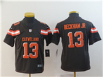 Cleveland Browns #13 Odell Beckham Jr. Youth Brown Vapor Untouchable Limited Jersey