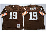 Cleveland Browns #19 Bernie Kosar 1986 Throwback Brown Jersey