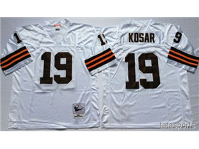 Cleveland Browns #19 Bernie Kosar 1986 Throwback White Jersey