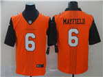 Cleveland Browns #6 Baker Mayfield Orange City Edition Limited Jersey