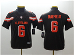 Cleveland Browns #6 Baker Mayfield Youth Brown Vapor Untouchable Limited Jersey