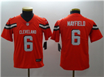 Cleveland Browns #6 Baker Mayfield Youth Orange Vapor Untouchable Limited Jersey