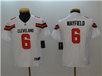 Cleveland Browns #6 Baker Mayfield Youth White Vapor Untouchable Limited Jersey
