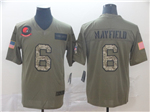 Cleveland Browns #6 Baker Mayfield 2019 Olive Camo Salute To Service Limited Jersey