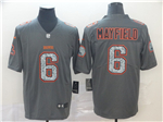 Cleveland Browns #6 Baker Mayfield Gray Camo Limited Jersey