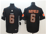Cleveland Browns #6 Baker Mayfield Black Vapor Impact Limited Jersey