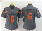 Cleveland Browns #6 Baker Mayfield Women's Gray Inverted Limited Jersey