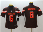 Cleveland Browns #6 Baker Mayfield Women's Brown Vapor Untouchable Limited Jersey