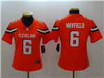 Cleveland Browns #6 Baker Mayfield Women's Orange Vapor Untouchable Limited Jersey