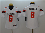 Cleveland Browns #6 Baker Mayfield Women's White Vapor Untouchable Limited Jersey